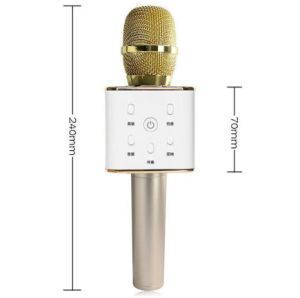 Q7 Wireless Bluetooth Metal Handheld Microphone + Speaker Karaoke Sing New pictures & photos