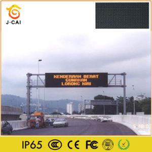 Outdoor P10 Single Yellow LED Information Video Screen pictures & photos