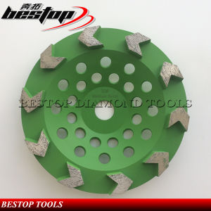 Double Row Diamond Grinding Cup Wheel for Concrete Polishing pictures & photos
