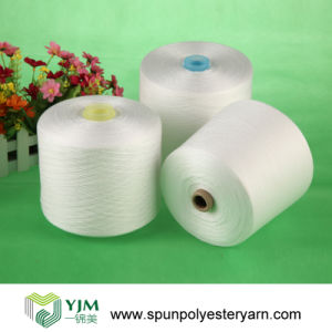 40/2 50/2 Raw White 100% Polyester Spun Yarn pictures & photos