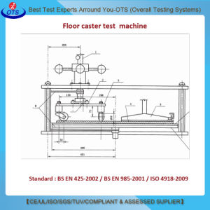 Roller Chair Testing Device Floor Casters Resistance Tester ISO 4918 pictures & photos