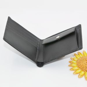 Euorpe Style Hot Stamped Black Authentic Leather Wallet Men Wallet pictures & photos