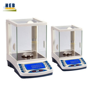 Portable Lab Electronic Analytical Balance with Glass Windshield 220g 0.01mg pictures & photos