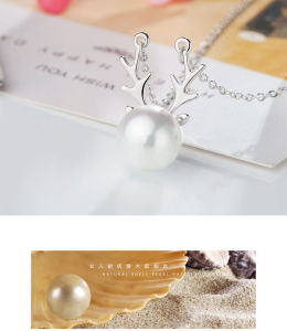 Fashion Jewelry for Christmas Gift with AAA CZ &Shell Pearl Necklace Rhodium and Rose Plated Woman Necklace Jewelry (543075686035) pictures & photos