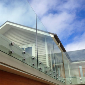 Outdoor Tempered Glass Balcony Railing Design Systems pictures & photos