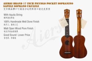 Aiersi Brand 17 Inch Piccolo Pocket Sopranino Mahogany Soprano Ukulele pictures & photos