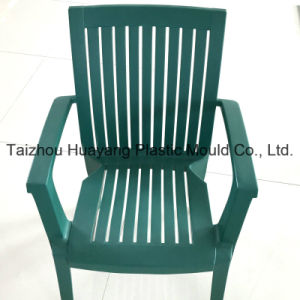 Plastic Striped Chair with Arm Mould (HY007) pictures & photos