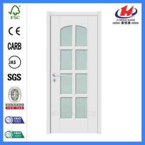 Whiter Primer Moulded Interior Wooden Glass Door (JHK-G19) pictures & photos