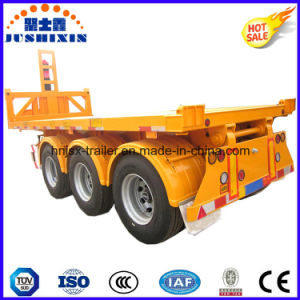 3 Axle Tipping Dump Trailer for Container Use pictures & photos