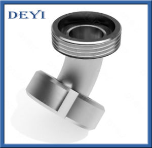Stainless Steel 304/316L 45 Degree Sanitary Female-Male Threaded Elbow with Thread End (DY-E028) pictures & photos