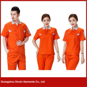 Custom Made Short Sleeve Work Garments for Summer (W28) pictures & photos