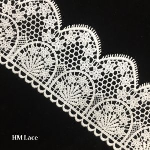 9cm off White Lace Trim, Embroidered Gauze Lace, Traditional Trimming Lace, Vintage Lace Fabric, Scalloped Trim Lace Hmhb807 pictures & photos