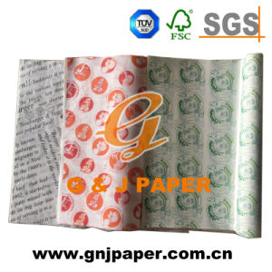 Excellent Quality 21GSM Pirnted Greaseproof Wrap Paper for Sale pictures & photos
