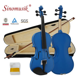 BV/SGS Certificate Supplier Sinomusik Colour Starter Plywood Beginner Violin pictures & photos