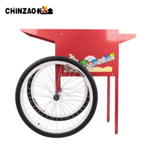 Commercial Electric Popcorn Machine Cart Wheels Snack Machine (CHZ-8A) pictures & photos