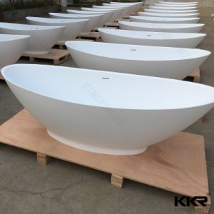 Small Sizes Resin Stone Freestanding Bathtub for Person pictures & photos