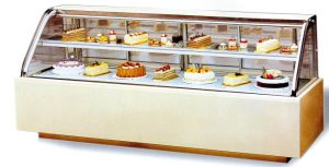 Double Curved Glass Luxury Double Layers Cake Showcase pictures & photos