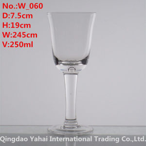 250ml Clear Color Wine Glass pictures & photos