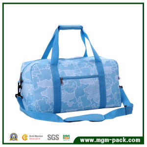 Big Capacity Blue Canvas Single Shoulder Bag with Map Patterns pictures & photos