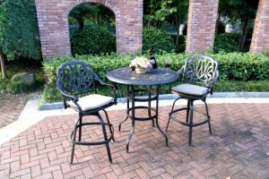 Cast Aluminum Patio Barstool 3PC Set Furniture pictures & photos