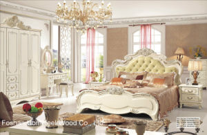 Antique Style Classical Wooden Bedroom Furniture Set (HF-MG011) pictures & photos