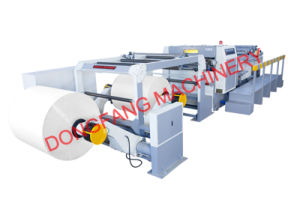 Double Side Coated Paper Roll Cutting Machine Dongfang pictures & photos