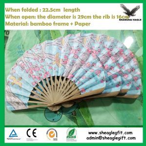 Wholesale Bamboo Paper Hand Fan for Advertising pictures & photos