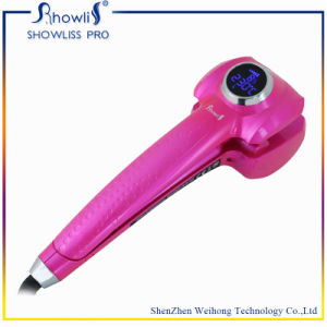 Showliss Digital Automatic Rotating LCD Hair Curler with CE/Rohs/SAA Ceitificate
