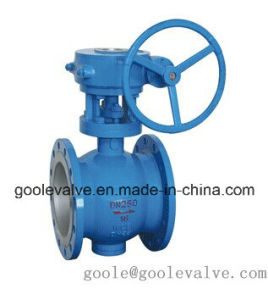 Handwheel Flanged Eccentric Half Ball Valve (GAPQ340H) pictures & photos