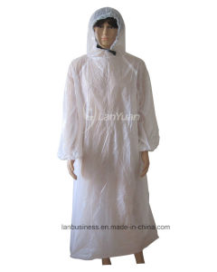 Lushing Cap and Elastic Cuff Disposable Poncho pictures & photos