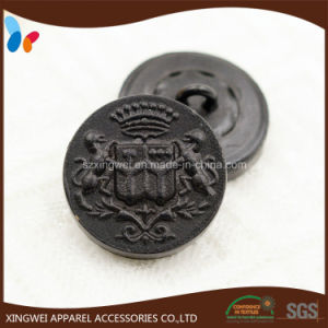 Custom Leather Shank Button with Embossed Logo pictures & photos