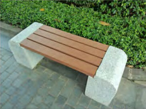 Roadside Patio Space Composite Bench WPC Board Vinyl Bench pictures & photos