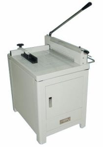 Manual Guillotine Paper Cutter 858A3 with Cabinet pictures & photos