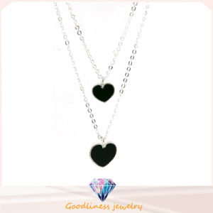 Good Quality & Heart-Shaped Pendant Jewelry 925 Silver Necklace (N6766) pictures & photos