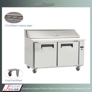 Two-Door Commercial Pizza Table Refrigerator (KT1) pictures & photos