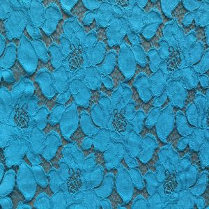 Nylon and Cotton Crochet Jacquard Lace Fabric for Dress