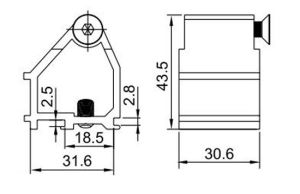 New Popular Joint Corner Hl6439 for Aluminum Profile pictures & photos