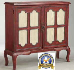 Wood Trim 2door Home Furniture Cabinet Console