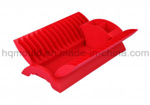 Plastic Drainer Kitchen Dish Rack with Cutlery Holder Injection Mold pictures & photos