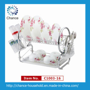 2 Layer Tube Dish Rack for Kitchenware (C1003-16)
