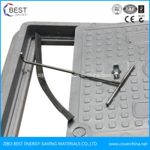 From China SMC Square 400mm Composite Manhole Cover with Gasket pictures & photos