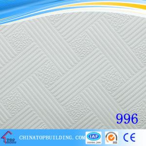 2016 New Design PVC Gypsum Ceiling Tile/Vinyl Gypsum Ceiling Tile 1210*605*8mm pictures & photos