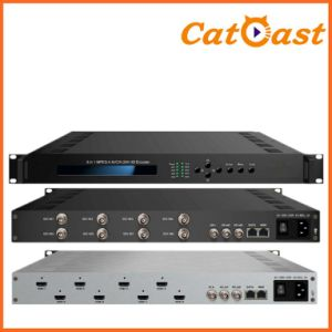 8 in 1 MPEG-4 H. 264 HD Encoder with 8 HDMI to IP Output pictures & photos