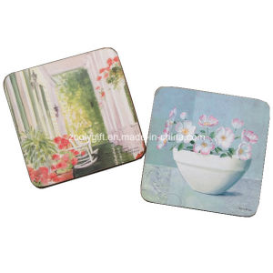 Promotional Home Decoration Square Cork Coaster, Custom Wood Coaster, MDF Coaster pictures & photos
