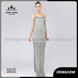Women′s Sides Vent Fall Slip Maxi Dresses pictures & photos