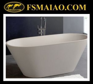 Mineral Freestanding Solid Surface Bathtub (BS-8619) pictures & photos