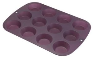 Silicone 12 Cup Bun Muffin Pan & Cake Mould &Bakeware FDA/LFGB (SY1323) pictures & photos