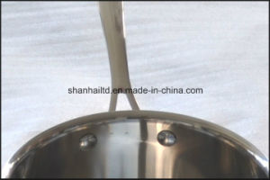 Tri Ply Copper Stainless Steel Frying Pan Cookware pictures & photos