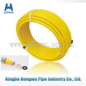 Stainless Steel Yellow Coated Gas Hose