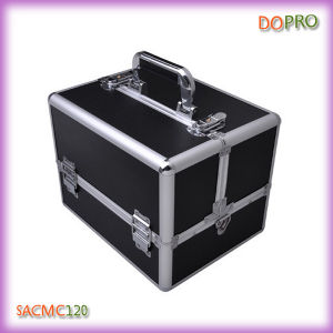 Classical Cosmetic Train Case Medium Size Makeup Travel Case (SACMC120)